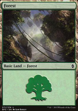 Battle for Zendikar: Forest (271 B - Non-Full Art)