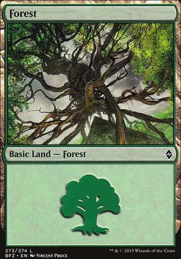 Battle for Zendikar: Forest (273 D - Non-Full Art)