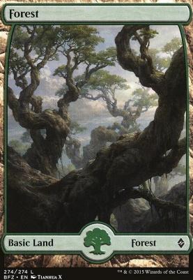 Battle for Zendikar: Forest (274 E - Full Art)