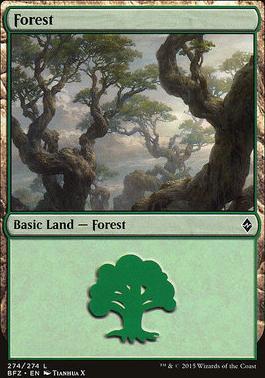 Battle for Zendikar: Forest (274 E - Non-Full Art)