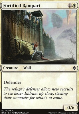 Battle for Zendikar Foil: Fortified Rampart