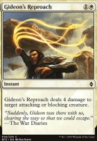 Battle for Zendikar Foil: Gideon's Reproach