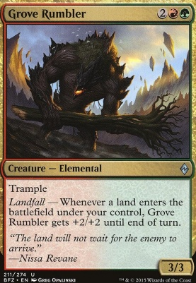 Battle for Zendikar: Grove Rumbler