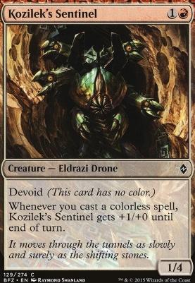 Battle for Zendikar Foil: Kozilek's Sentinel