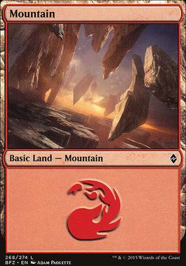 Battle for Zendikar: Mountain (268 D - Non-Full Art)
