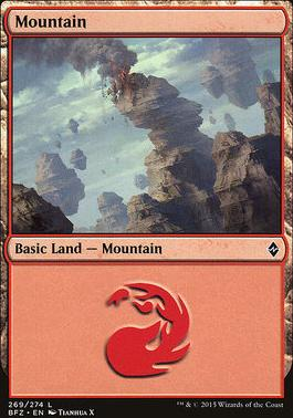 Battle for Zendikar: Mountain (269 E - Non-Full Art)