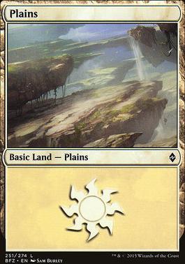 Battle for Zendikar: Plains (251 B - Non-Full Art)