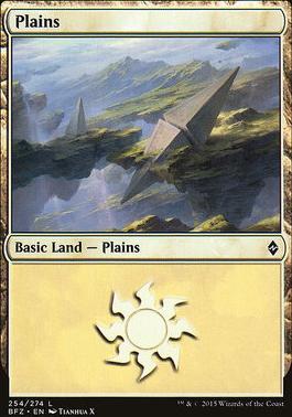 Battle for Zendikar: Plains (254 E - Non-Full Art)