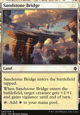 Battle for Zendikar Foil: Sandstone Bridge