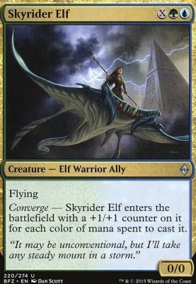 Battle for Zendikar Foil: Skyrider Elf