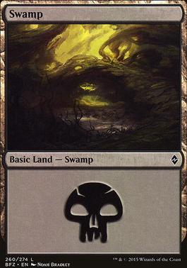 Battle for Zendikar: Swamp (260 A - Non-Full Art)
