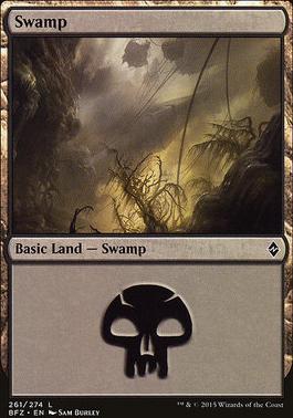 Battle for Zendikar: Swamp (261 B - Non-Full Art)