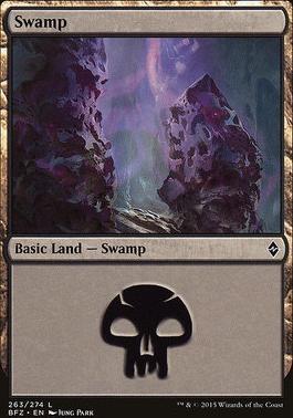 Battle for Zendikar: Swamp (263 D - Non-Full Art)