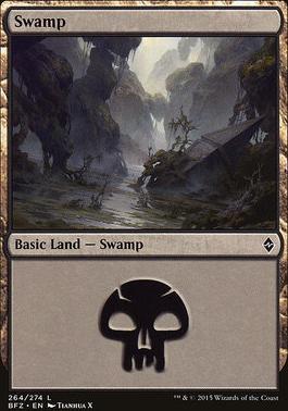 Battle for Zendikar: Swamp (264 E - Non-Full Art)