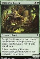 Battle for Zendikar Foil: Territorial Baloth