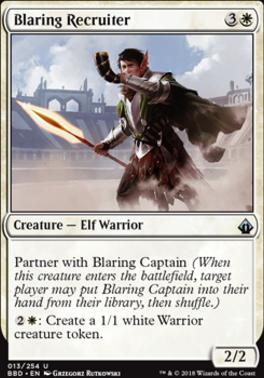Battlebond Foil: Blaring Recruiter