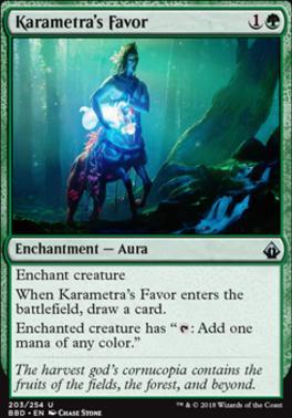 Battlebond Foil: Karametra's Favor