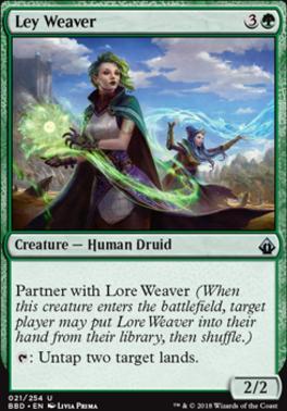 Battlebond Foil: Ley Weaver