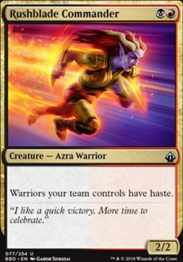 Battlebond Foil: Rushblade Commander