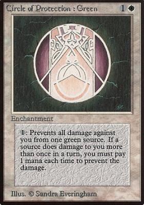 Beta: Circle of Protection: Green