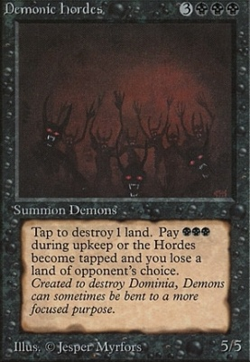 Demonic Hordes | Beta | Card Kingdom
