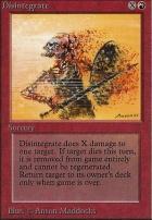 Beta: Disintegrate