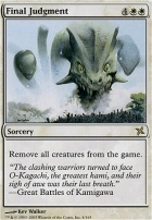 Betrayers of Kamigawa Foil: Final Judgment