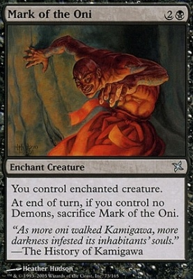 Betrayers of Kamigawa: Mark of the Oni