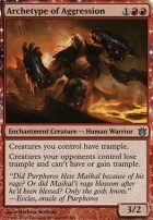 Born of the Gods Foil: Archetype of Aggression