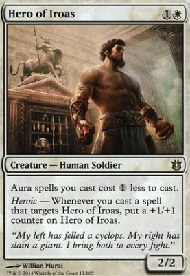 Born of the Gods Foil: Hero of Iroas