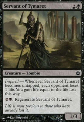 Born of the Gods Foil: Servant of Tymaret