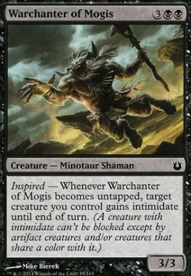 Born of the Gods Foil: Warchanter of Mogis