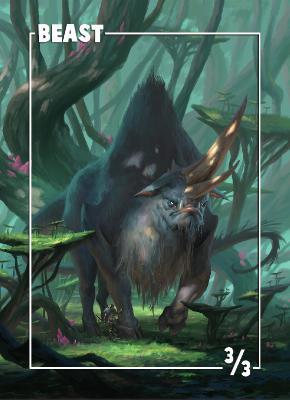 Card Kingdom Tokens: Beast Token (Daarken)