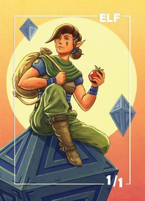 Card Kingdom Tokens: Elf Token (Johnny Acurso)