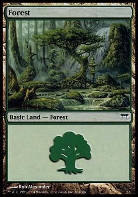 Champions of Kamigawa: Forest (304 B)