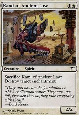 Champions of Kamigawa Foil: Kami of Ancient Law