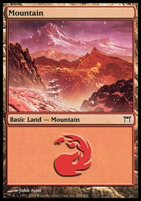 Champions of Kamigawa: Mountain (299 A)
