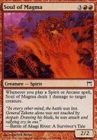 Champions of Kamigawa Foil: Soul of Magma