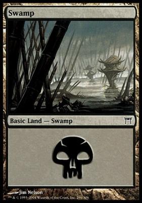 Champions of Kamigawa Foil: Swamp (296 B)