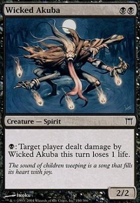 Champions of Kamigawa Foil: Wicked Akuba