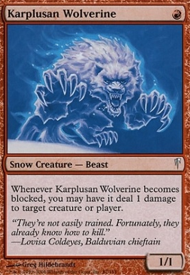 Coldsnap Foil: Karplusan Wolverine