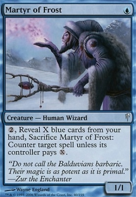 Coldsnap Foil: Martyr of Frost