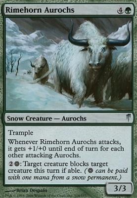 Coldsnap: Rimehorn Aurochs