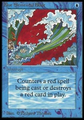 Collectors Ed Intl: Blue Elemental Blast (Not Tournament Legal)