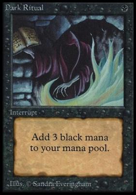 Collectors Ed Intl: Dark Ritual (Not Tournament Legal)