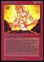 Collectors Ed Intl: Fire Elemental (Not Tournament Legal)