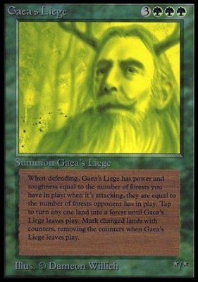 Collectors Ed Intl: Gaea's Liege (Not Tournament Legal)