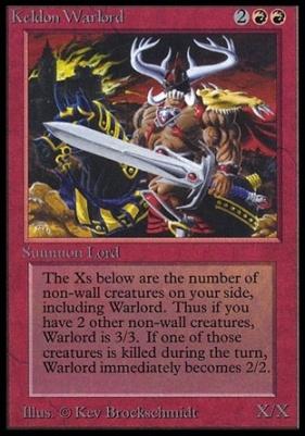 Collectors Ed Intl: Keldon Warlord (Not Tournament Legal)