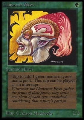 Collectors Ed Intl: Llanowar Elves (Not Tournament Legal)