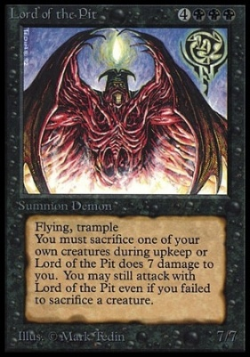 Collectors Ed Intl: Lord of the Pit (Not Tournament Legal)